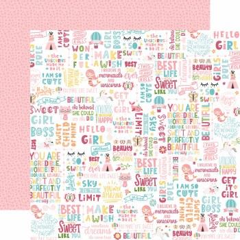 All Girl 12x12 Paper- Hello Girl