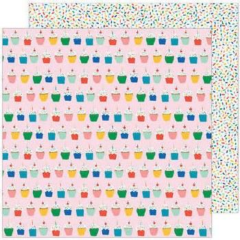 Cake Day 12x12 Paper- Hey Cupcake