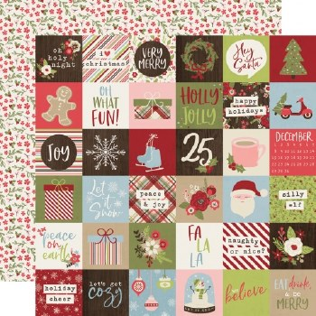 Holly Jolly 12x12 Paper- 2x2 Elements