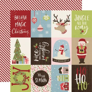 Holly Jolly 12x12 Paper- 3x4 Elements