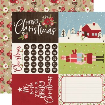 Holly Jolly 12x12 Paper- 4x6 Elements