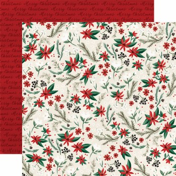 Christmas Market 12x12 Paper- Holiday Floral
