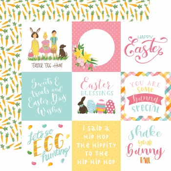 I Love Easter 12x12 Paper- 4x4 Cards