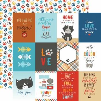 I Love My Cat 12x12 Paper- 3x4 Cards