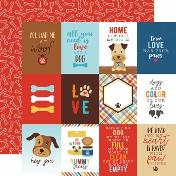 I Love My Dog 12x12 Paper- 3x4 Cards