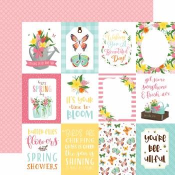 I Love Spring 12x12 Paper- 3x4 Cards