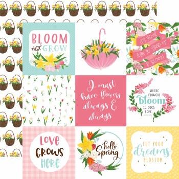 I Love Spring 12x12 Paper- 4x4 Cards