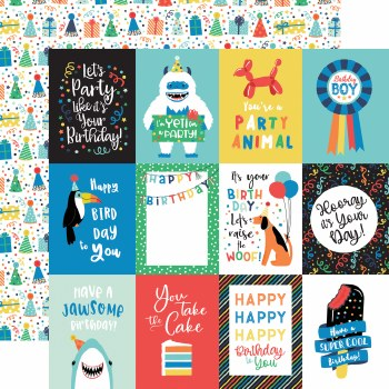It's Your Birthday Boy 12x12 Paper- 3x4 Cards