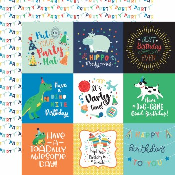 It's Your Birthday Boy 12x12 Paper- 4x4 Cards