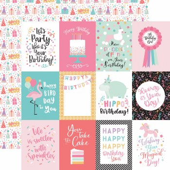 It's Your Birthday Girl 12x12 Paper- 3x4 Cards