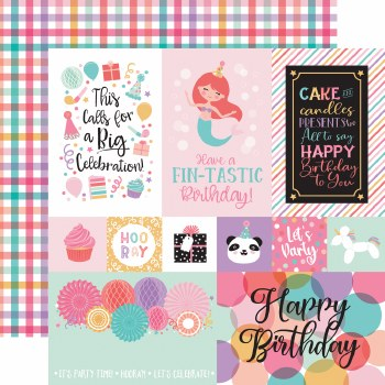 It's Your Birthday Girl 12x12 Paper- Multi Cards
