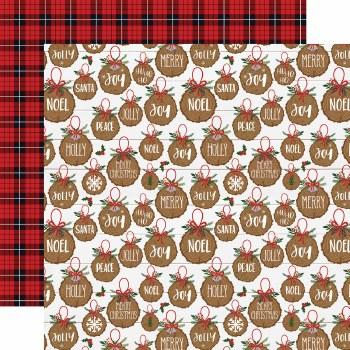 A Lumberjack Christmas 12x12 Paper- Jolly Ornaments