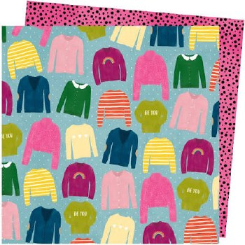 Amy Tangerine Slice of Life 12x12 Paper- Knit Wit