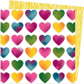 Amy Tangerine Slice of Life 12x12 Paper- Love Always