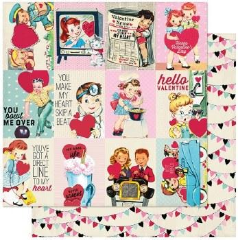 Authentique Love Notes 12x12 Paper- 7