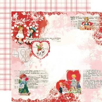 Simple Vintage: My Valentine 12x12 Paper- Love You