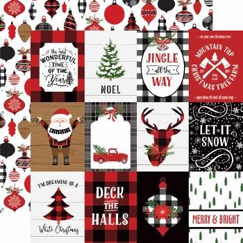 A Lumberjack Christmas 12x12 Paper- 3x4 Cards