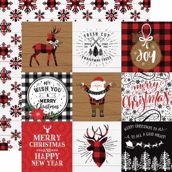 A Lumberjack Christmas 12x12 Paper- 4x4 Cards