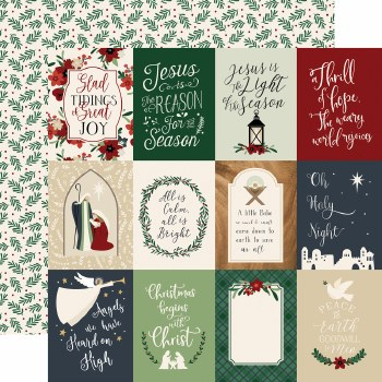 Away in a Manger 12x12 Paper- 3x4 Cards