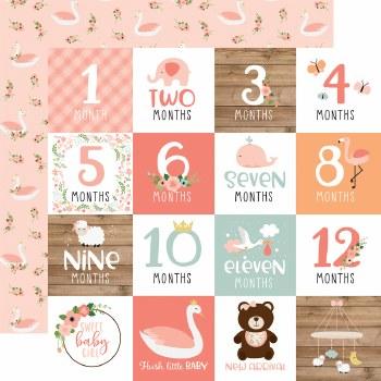 Baby Girl 12x12 Paper- Milestone