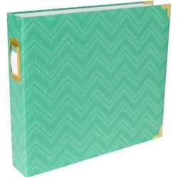 Project Life 12x12 D Ring Album- Mint Chevron