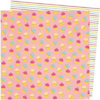 Amy Tangerine Slice of Life 12x12 Paper- My Cupcake