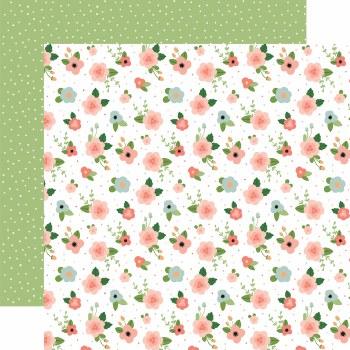 Baby Girl 12x12 Paper- Newborn Floral