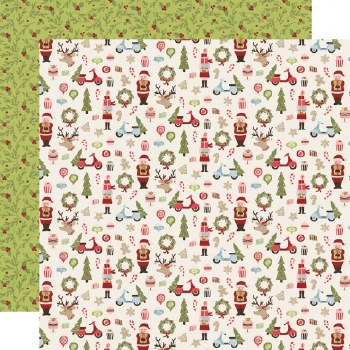 Holly Jolly 12x12 Paper- Oh What Fun!