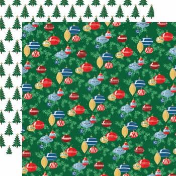 Christmas Treasures 12x12 Paper- Ornaments