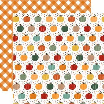 Happy Fall 12x12 Paper- Pumpkin Spice