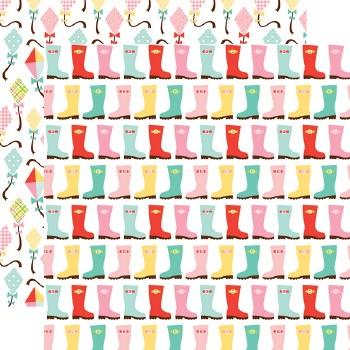 Spring Fling 12x12 Paper- Rainboots