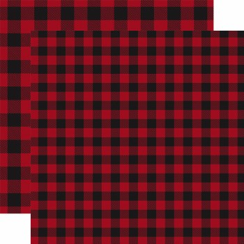 Buffalo Plaid 12x12 Paper- Red