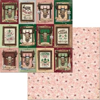 Christmas Treasures 12x12 Paper- Reindeer