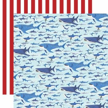 Fish are Friends 12x12 Paper- Shark Swim