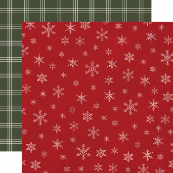 Farmhouse Christmas 12x12 Paper- Snowflakes