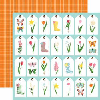 I Love Spring 12x12 Paper- Spring Tags