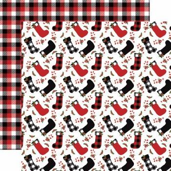 A Lumberjack Christmas 12x12 Paper- Stockings