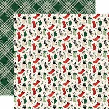 A Cozy Christmas 12x12 Paper- Stockings