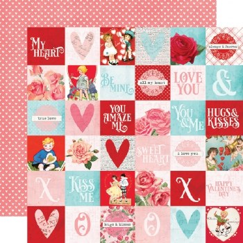 Simple Vintage: My Valentine 12x12 Paper- 2x2 Elements
