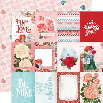 Simple Vintage: My Valentine 12x12 Paper- 3x4 Elements