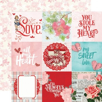 Simple Vintage: My Valentine 12x12 Paper- 4x4 Elements