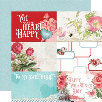 Simple Vintage: My Valentine 12x12 Paper- 4x6 Elements