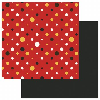 A Day at the Park 12x12 Paper- Polka Dots w/ Black