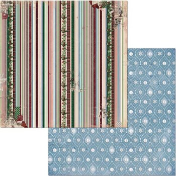 Christmas Treasures 12x12 Paper- Tinsel