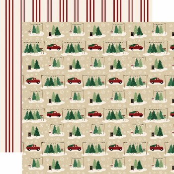 A Cozy Christmas 12x12 Paper- Tree Farm
