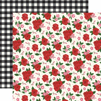 Be My Valentine 12x12 Paper- Valentine's Floral