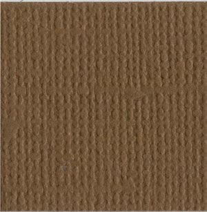 12x12 Brown Textured Cardstock- Walnut