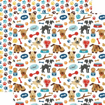 I Love My Dog 12x12 Paper- Woof Woof