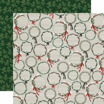 Christmas Market 12x12 Paper- Wreaths