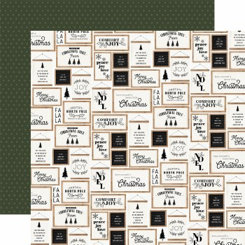 Farmhouse Christmas 12x12 Paper- Christmas Signs